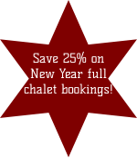 Save 25% on New Year full chalet bookings!